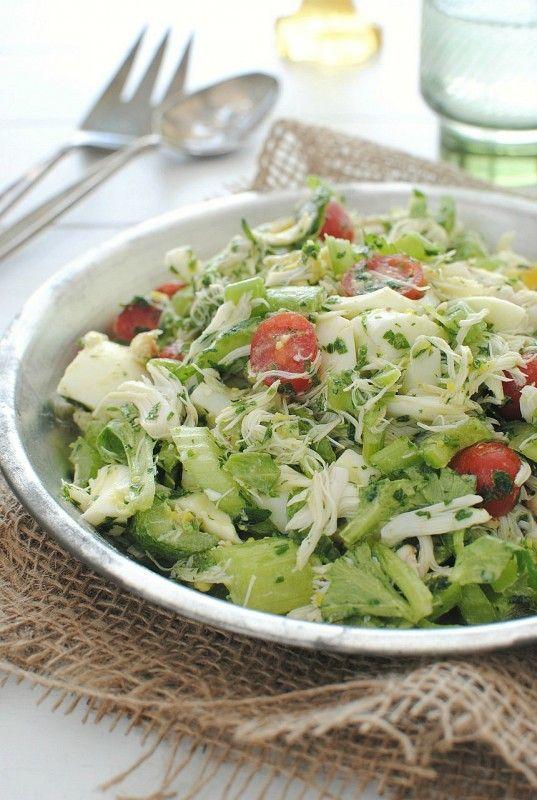 Crab salad with celery @bevcooks