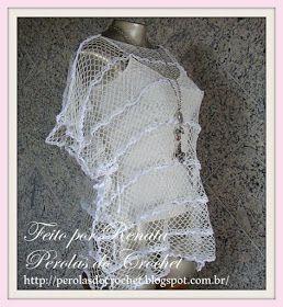 * Pérolas do Crochet: Blusa Kafta em croche