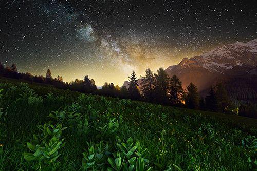 stars, nature, mountains