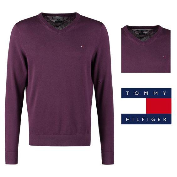 Moda hombre | Jersey de punto Tommy Hilfiger modelo Pacific morado dark.  Jersey de punto. Cuello/ escote en pico. Estampado unicolor. Ajuste y largo: normal. Composición: 100% Algodón.  - PVP: 49.90€ https://goo.gl/5m8zD0   #jerseys #jerseis #tommyhilfiger #rebajas #tiendaonline #promocion