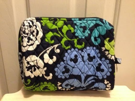 Vera Bradley Disney Large Cosmetic Case Where's Mickey Bag NWT