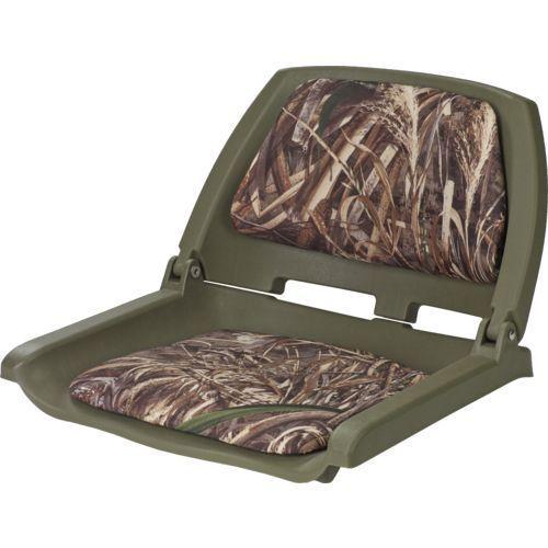 Marine Raider Realtree Max-5® Padded Fold Down Boat Seat - Marine