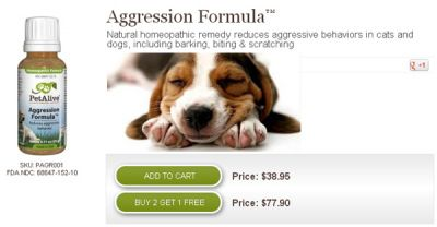 Buy Aggression Formula for dogs