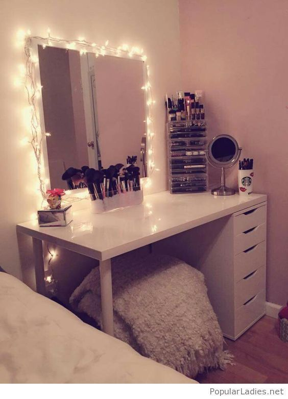 Makeup And Coffee Desk Drawer Organization Ideas Desk Organizer Ikea How To Declutter Your Home Office How Diy Vanity Mirror Beauty Room Bedroom Vanity