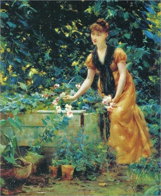 Francis Coates Jones (American artist, 1857-1932) In the Garden 1890