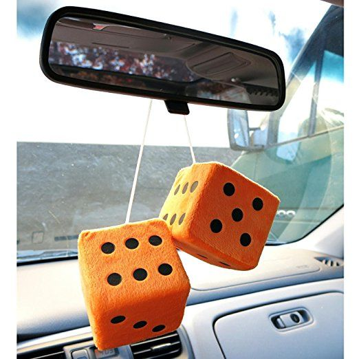 1 Pack Vintage Parts 334812 3 Light Blue Fuzzy Dice with Black Dots - Pair
