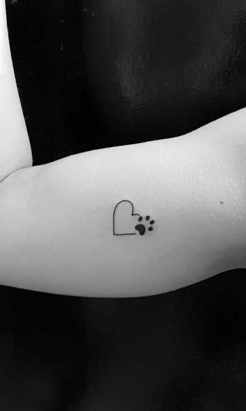 Tattoo Inspo 60 Small Tattoo Ideas For Women Tatuaje De Pata De Perro Tatuajes De Perro Pequeno Tattoo Huellas