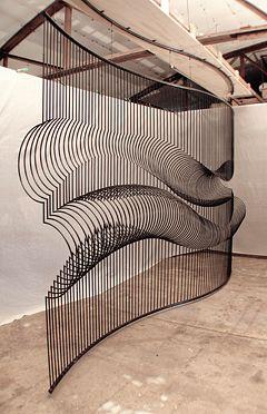 Momentum, Matt McConnell Courbes, variations, vibrations, mouvement, continuité, linéaire, fluidité. Would make a nice staircase guard