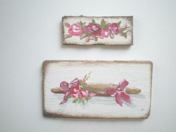 Rolling Pin and Roses  Painting  Dollhouse 1 by cinderellamoments, $6.00 sold