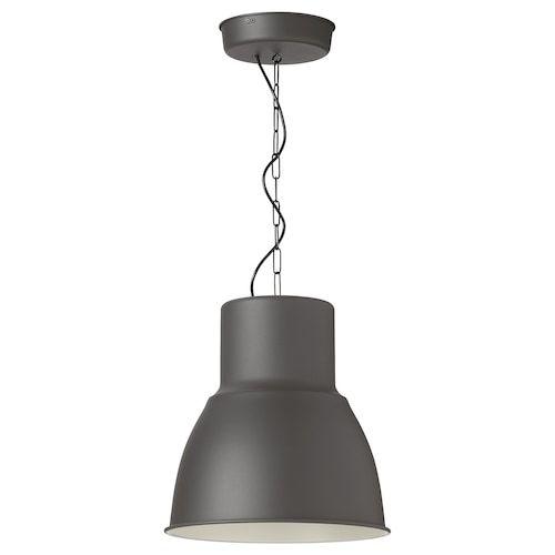 HEKTAR Pendant lamp, dark gray, 19