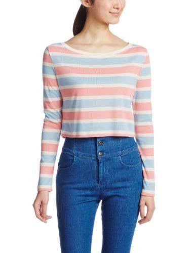 Amazon.co.jp: (スナイデル)snidel マルチボーダーTシャツ: 服&ファッション小物