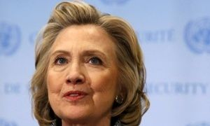 Hillary Clinton is expected to officially launch her US presidential campaign on Sunday while en route to Iowa.