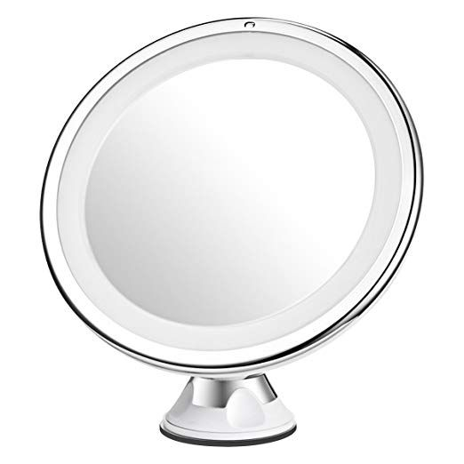 Mpow 10x Magnifying Mirror 16 Led Lighted Makeup Mirror 360 Rotation Bathroom Va Makeup Mirror With Lights Magnifying Mirror Lighted Magnifying Makeup Mirror