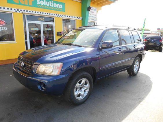 2002 #Toyota #Highlander, 110,292 miles, listed on CarFlippa.com for $7,800 under used cars.