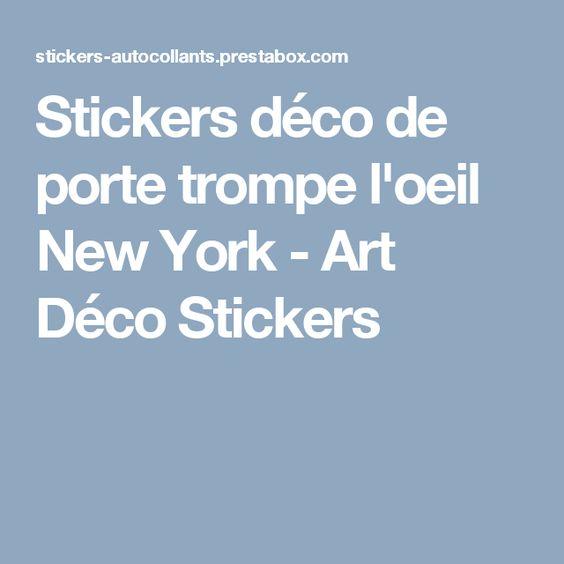 Stickers déco de porte trompe l'oeil New York - Art Déco Stickers