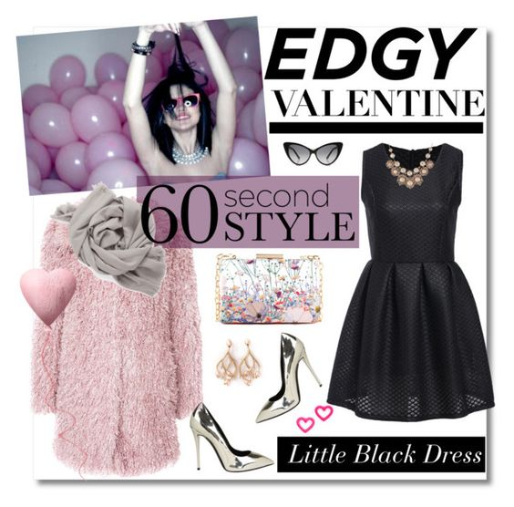 """""""60-Second Style: Edgy Valentine"""" by gorgeous-stacy ❤ liked on Polyvore featuring Unreal Fur, Giuseppe Zanotti, Tom Ford, M&S, Vivienne Westwood, Shaun Leane, Marc by Marc Jacobs, women's clothing, women and female"""