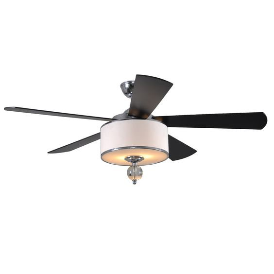 Shop allen + roth 52-in Victoria Harbor Polished Chrome Ceiling Fan with Light Kit at Lowes.com
