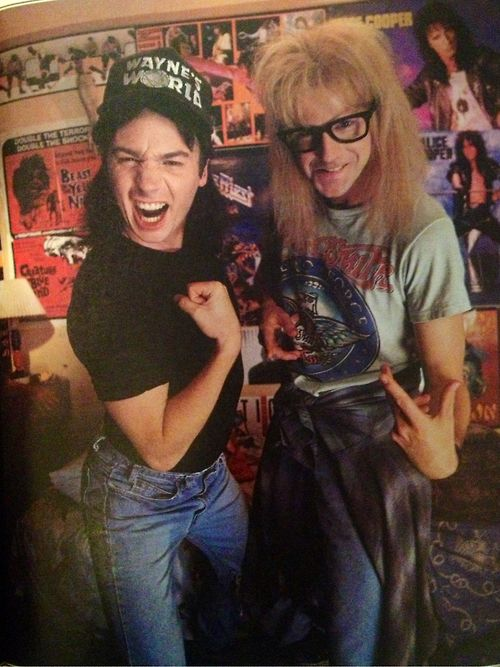 Grab some concert tees and distressed denim at Top Vintagellc to dress up as this classic duo