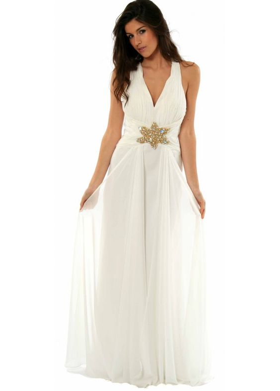 grecian dress | ... Dresses ‹ View All Chic Boutique Designer Long Evening Dresses