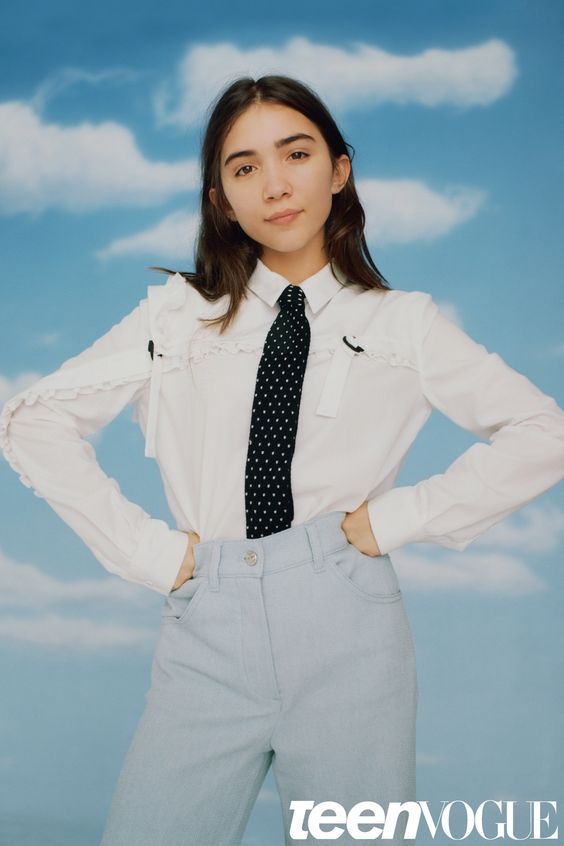 ROWAN BLANCHARD 14/actor I want teens of all races and sexes to know their voices are valued. Last year I wrote an essay—which I published to my Tumblr page—on intersectional feminism that discusses how feminists have fought for equality but many times overlooked how race and gender overlap with sexism. I feel that teens are often doubted, making us feel like our opinions won't matter until we are older. I don't believe there is a minimum age for intelligence. Female voices, es