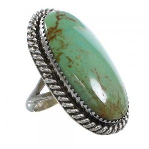 American Indian Genuine Sterling Silver Kingman Turquoise Ring www.nativeamericanjewelry.com