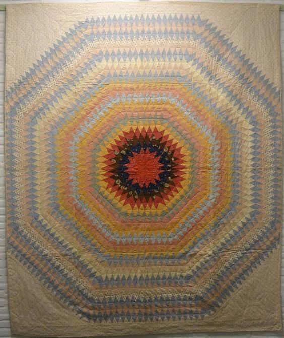 Sunburst, 1850-60. Laura Fisher Quilts.