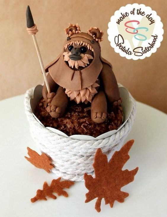 Star Wars cake - Ewok - For all your cake decorating supplies, please visit craftcompany.co.uk
