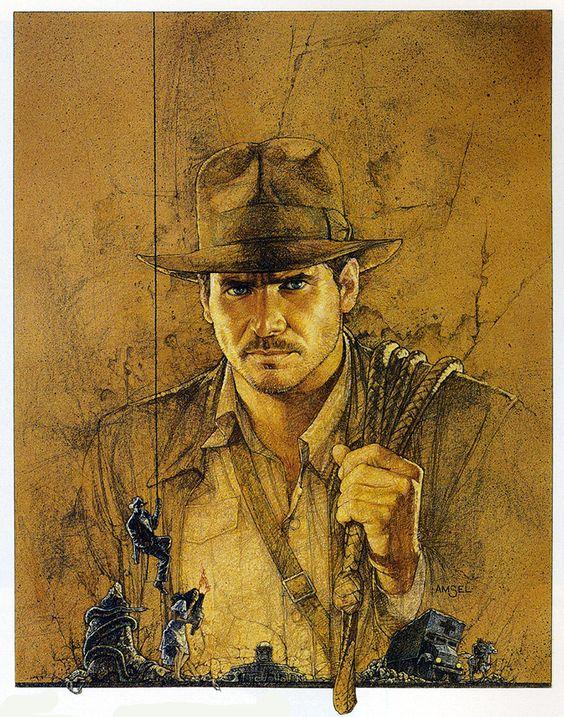 Raiders of the Lost Ark - Original Poster | Art by Richard Amsel - website: www.RichardAmsel.info