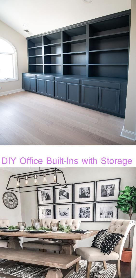 Diy Office Built Ins With Storage The Diy Playbook Bri On Instagram Spent This Chilly Sunday Giving Our Dining R In 2020 Office Built Ins Built Ins Office Building