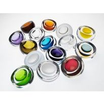 Anna Torfs basic form glass ornaments Caja bowls - varying colours and finishes #orjewellers #annatorfs #wedding #colour