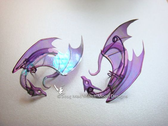 Dragon Ear Cuffs 4 Colours Available non pierced by MadMarchMoon || etsy.com