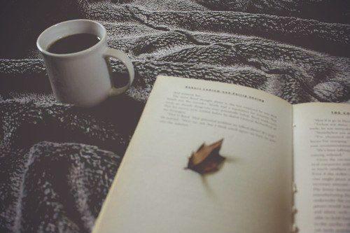 autumn books and black coffee