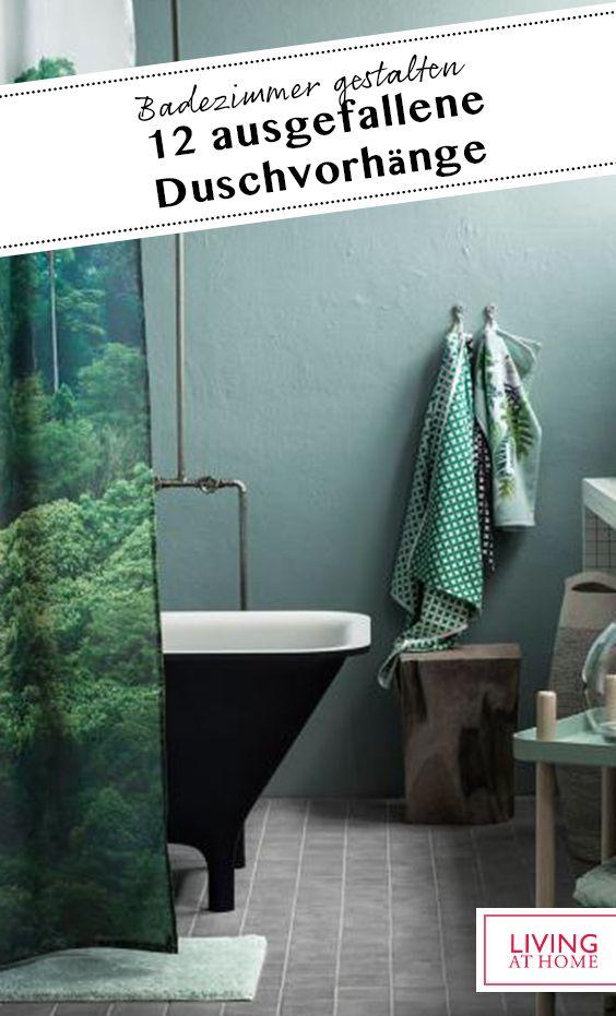 Ausgefallene Duschvorhange In 2020 Duschvorhang Dusche Badezimmer Gestalten