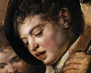Two Boys Singing (detail)