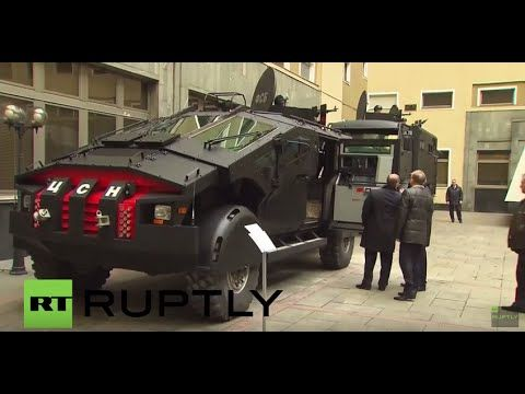 russian federal security force presents new 4x4 armoured zil karatel code named the punisher in 2020 armored vehicles armored truck military vehicles pinterest