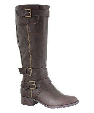 Chocolate Texas Extra Wide-Calf Boot