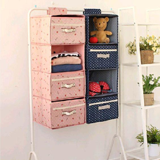 粉紅碎花 / 藍色波點四層收納掛袋  掛袋: 30CM x 30CM x 80CM  抽屜盒:29CM x 29CM x 19CM 物料:牛津布+硬紙板 款式: 粉紅色 / 藍色   Pink Floral / Blue Polka Dot 4-tier Storage Bag Bag: 30CM x 30CM x 80CM Drawer Box: 29CM x 29CM x 19CM Material: Oxford cloth + cardboard Style: Pink / Blue