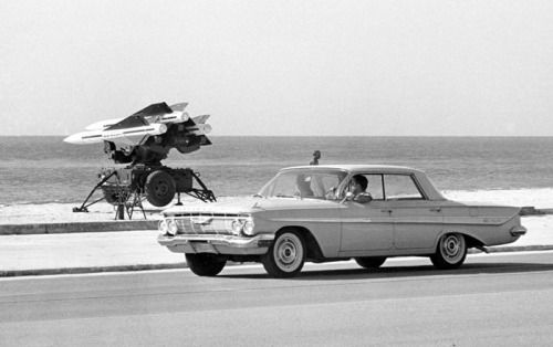 historicaltimes:  Hawk missiles in the Florida Keys during the Cuban missile crisis, October 1962.