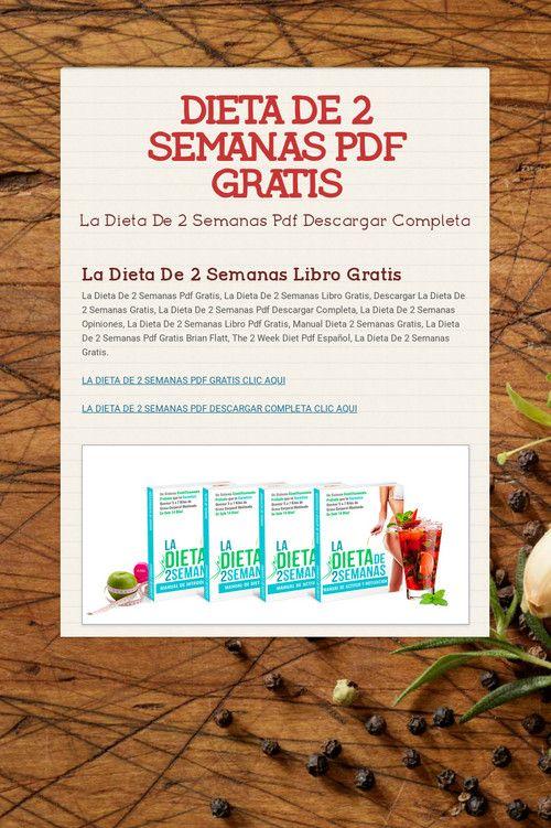 La dieta de las dos semanas pdf gratis