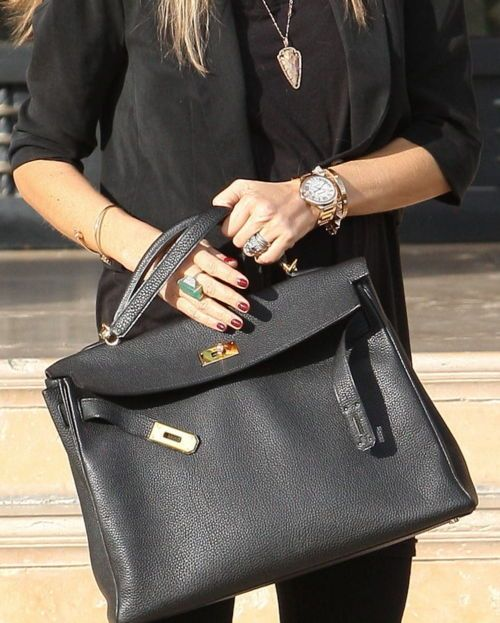 kelly handbags - Bucket List Item....black with hot pink interior! #hermes | To Get ...