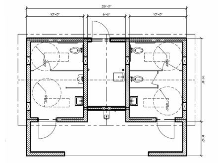 Public restroom layout bathroom stall dimensions for Best bathroom layout plans