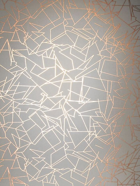 Angles Wallpaper – Copper Rose White. Simply stunning.