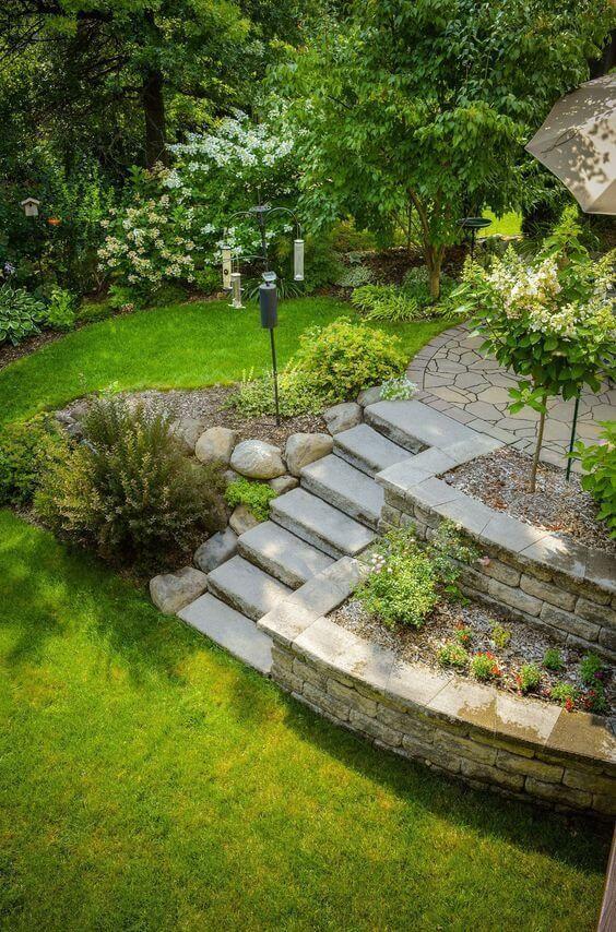 20 Rustic Backyard Ideas Designs Budget Friendly Landscaping Ideas In 2020 Large Backyard Landscaping Front Yard Landscaping Sloped Garden