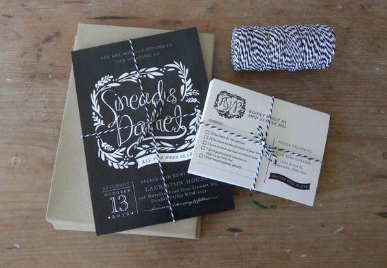 DIY Printable Wedding Invitation Blackboard Love  by LadyBPaperie, $95.00  @Devon Benson