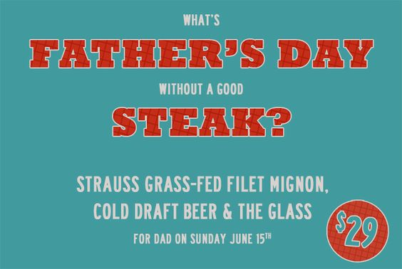 #fathersday at #chelseaskitchen Grass-Fed Filet Mignon