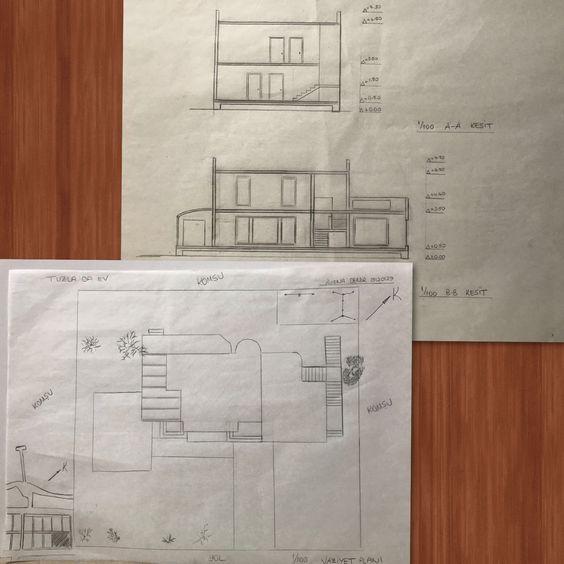 Tuzla Mercan Evleri  Kesit Vaziyet Planı