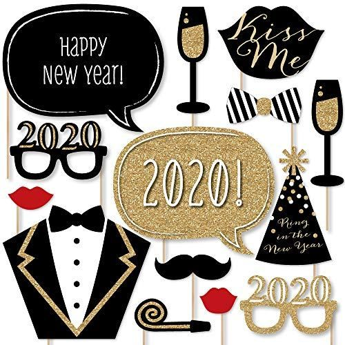 Big Dot Of Happiness New Years Eve Party Gold 2020 New Year S Photo Booth Props Kit 20 Count In 2020 New Year S Eve Party Themes Big Dot Of Happiness Photo Booth Prop Kits
