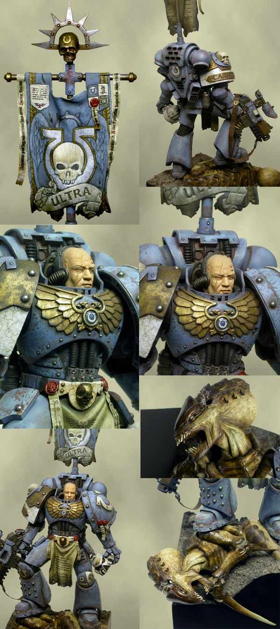 Ultramarine detail - It is a scratch build 1/15 but the painting is still top notch.