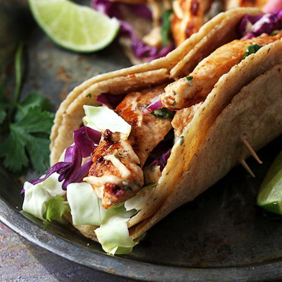 Spicy Jamaican Jerk Chicken Tacos - on the table in 20 minutes!