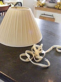 how to recover a pleated fabric lamp shade
